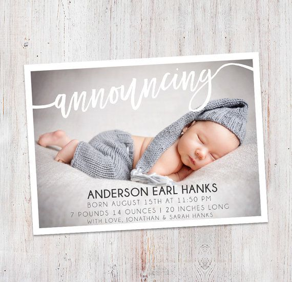 Birth Announcement : Announcing Anderson Baby Boy by deanworks