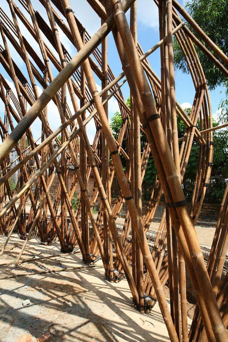 Bamboo structure the bamboo structure is suited - Bamboo Dome Cafe Wnw By Vo Trong Nghia 12 Designalmic Bamboo Structurebamboo