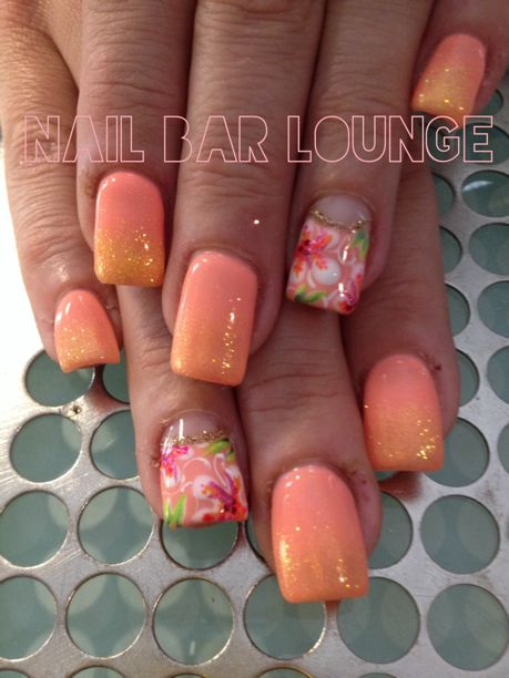 Peach colored nails - have to try this!!