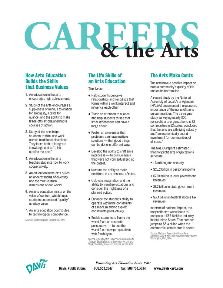 Careers in art, Davis Art via Lorraine Buchan