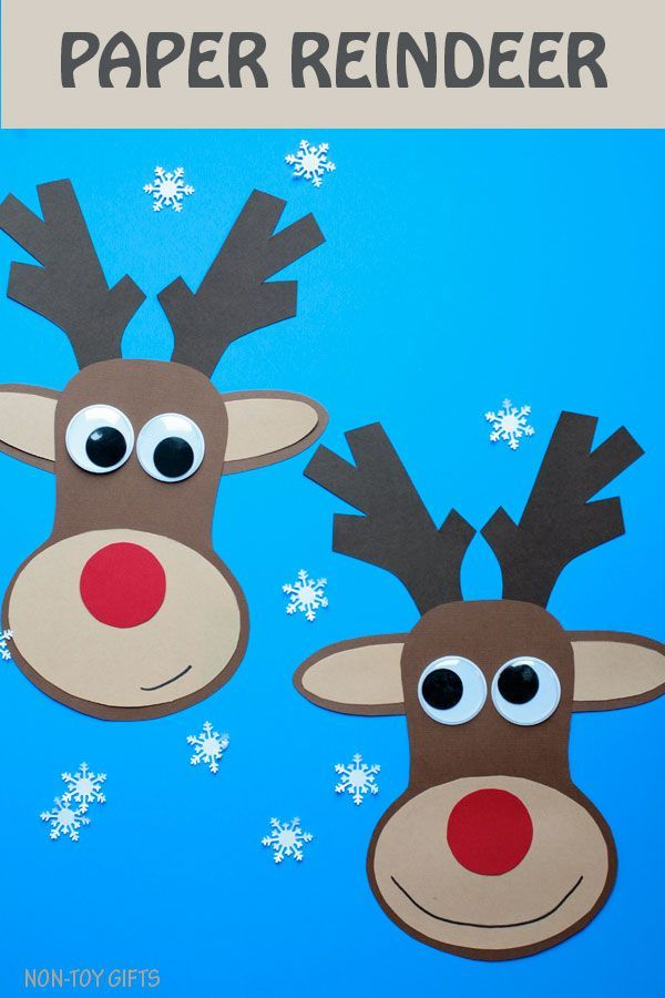 Paper Reindeer Craft With Printable Template Christmas Craft Preschool Christmas Crafts Winter Crafts For Kids Christmas Arts And Crafts
