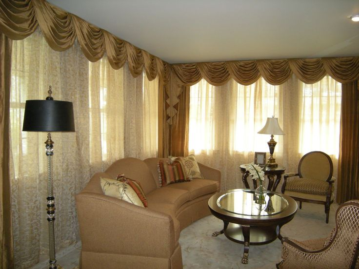 interior classic gold silk valance and curtain combined white sheer curtain valances for living room windows - Valances For Living Room