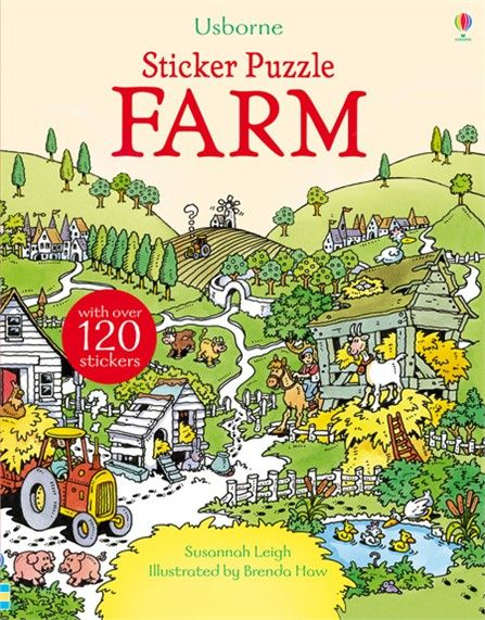 A fun and challenging, farm-themed adventure for young children, with a picture puzzle to solve on every double page.  http://www.usborne.com/catalogue/book/1~PZ~PZA~8876/sticker-puzzle-farm.aspx  #sticker #puzzle #farm #farmyard #solve #adventure #book #activity #children #Usborne