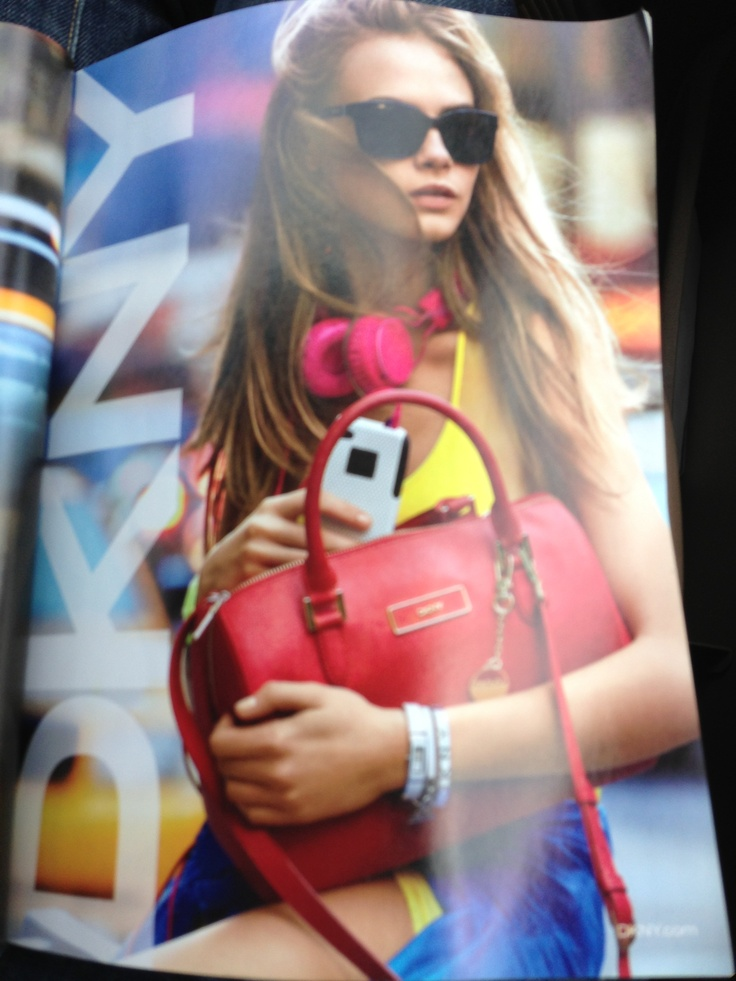All the colors!  DKNY ad via March 2013 InStyle