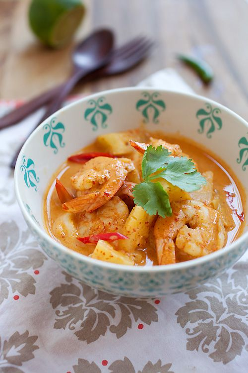 Thai shrimp and pineapple recipe | rasamalaysia.com