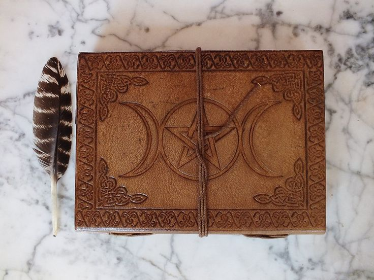 Leather Bound Journal - Triple Moon