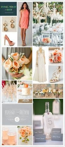 Ideas for a friend: coral grey & navy blue wedding - Bing Images I mainly just liked the bottle with the table number on it.