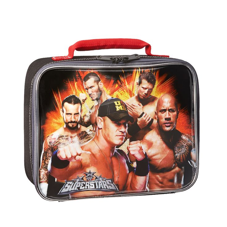 The WWE Superstars eat right to keep themselves in tip top shape. Take your healthy lunch with you in this stylish lunch bag!