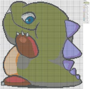 Today's pattern is Debblun from Bubble Bobble
