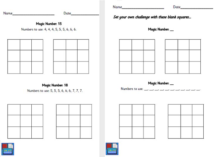 Magic Number Squares Activity - A great maths activity encouraging problem solving, and easily differentiated.