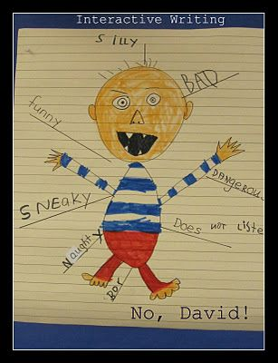 David Shannon adjectives to describe David. interactive writing