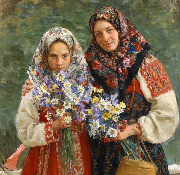 Meadow Flowers (detail) by Ivan Kulikov