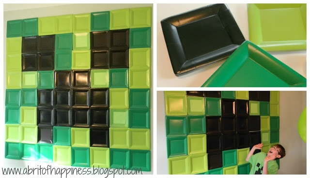 Wall art out of square dessert plates