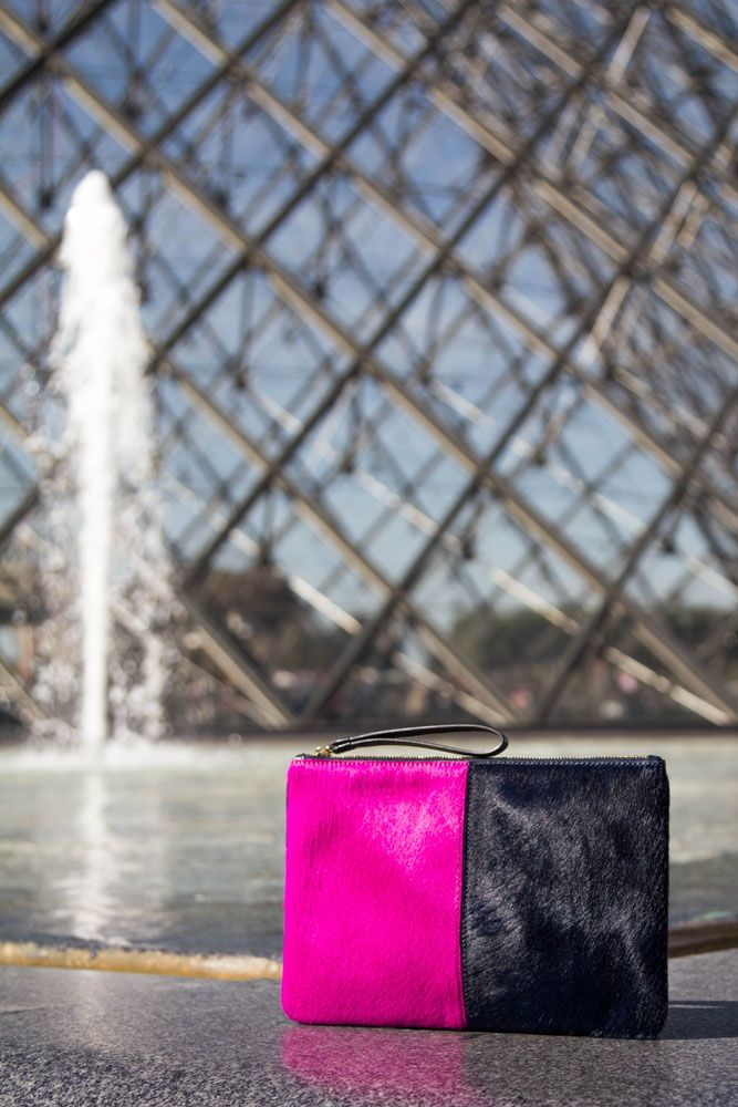 JAUNT in Paris. Our Travel Clutch Amira is warm and cozy, perfect for your winter wardrobe!  Shop this style at: www.jauntaccessories.com