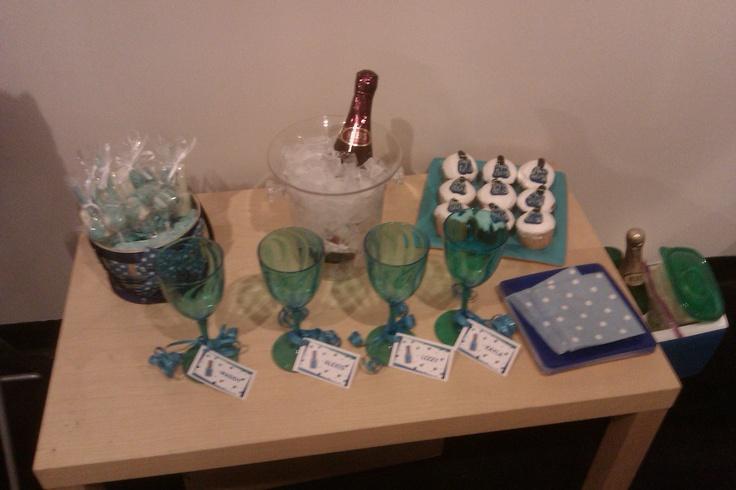 Pre-teen, blue-themed, spa birthday party!