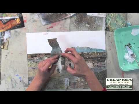 ▶ Cathy Taylor- Altered Papers Pt 4- Collaging With Altered Papers - YouTube