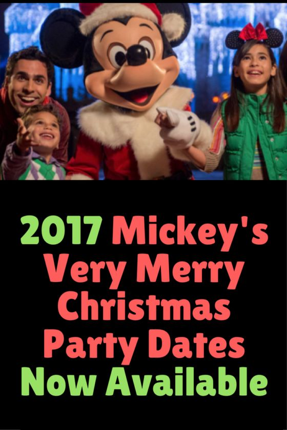 2017 Mickey's Very Merry Christmas Party Dates Now Available - Couponing to Disney