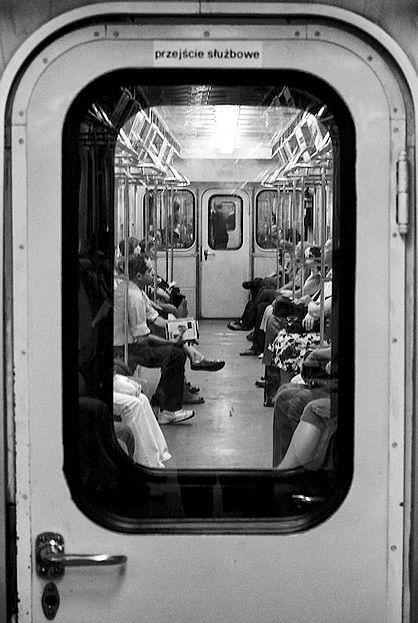 On the subway. train