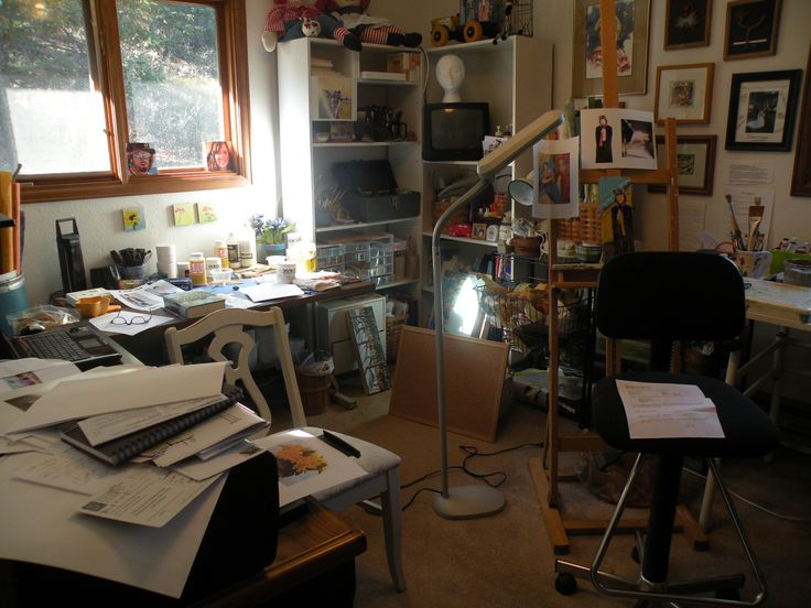 messy apartment room. Office cluttered with things for storage  Messy RoomSpaceFeng 50 best messy rooms images on Pinterest room Clutter and