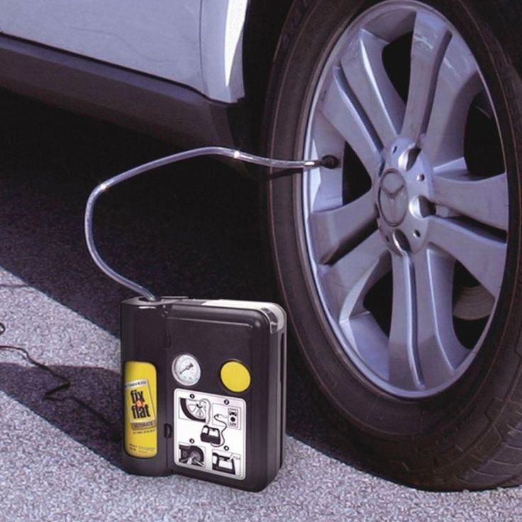 A flat tire repair kit so you can quickly patch up and re