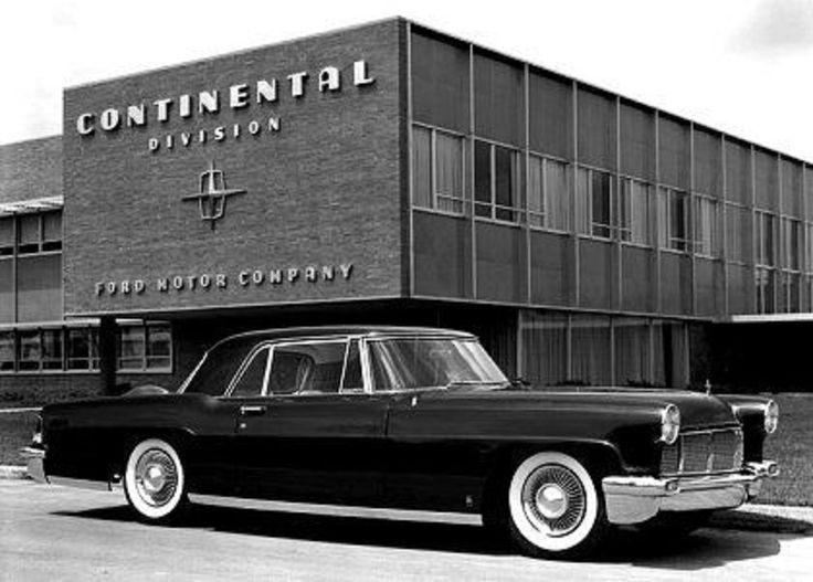 1956 Continental Mark II, parked out front of FMC Continental Division Headquarters. Note: this Car is Not A Lincoln. This iconic Automobile, along with another 3,044 or so Continental Mark II's  were manufactured in their own Division of the FMC during 1956-1957, and also, for those two years only..