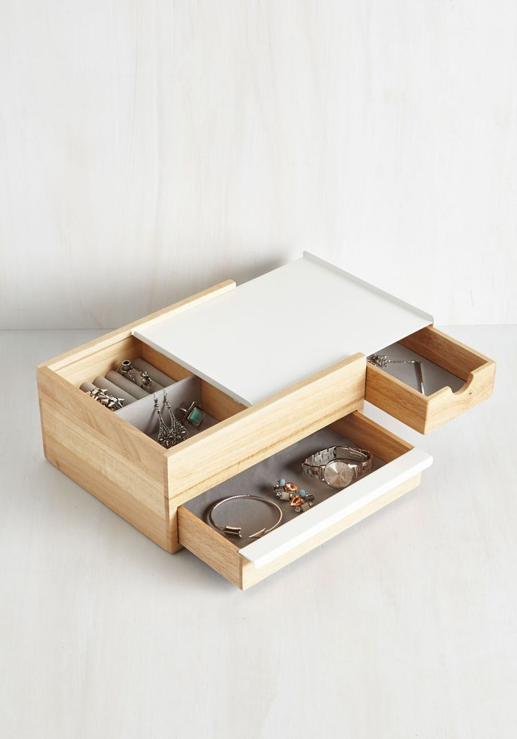 Terrifically Tucked Away Jewelry Box - Multi, White, Better, Gals, Gifts2015