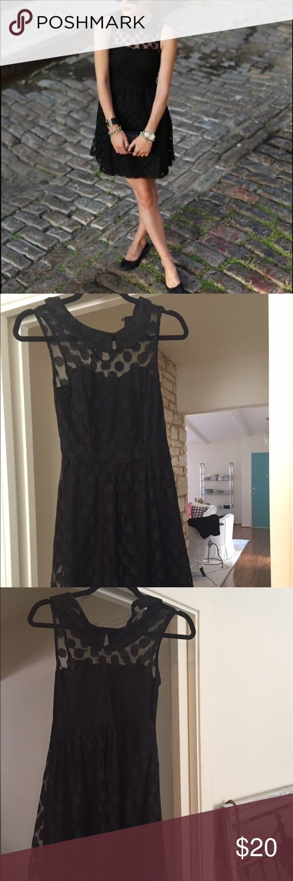 Black Polka Dot Cocktail Dress Black polka dot cocktail dress. Barely worn, in great condition. Size small. Very flattering Xhilaration Dresses