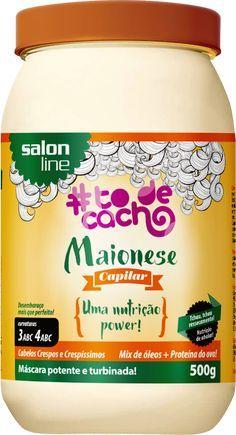 Lançamento #TodeCacho Salon Line: a primeira maionese capilar do mercado! Promete recuperar cabelos extremamente ressecados. Veja mais no blog.