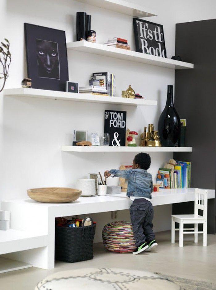 Super Idee für eine ''Kinderecke'' im Wohnzimmer. Praktisch und trotzdem schön und aufgeräumt