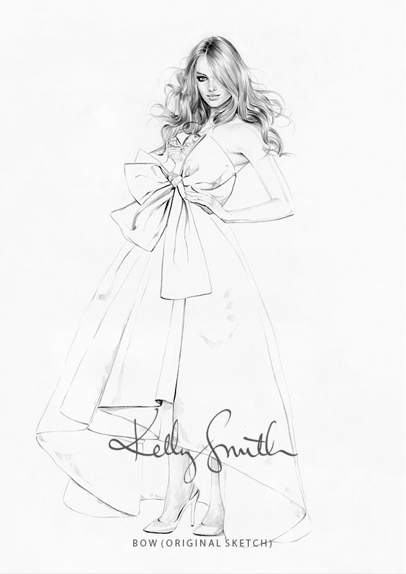 Bow - ORIGINAL SKETCH by Kelly Smith