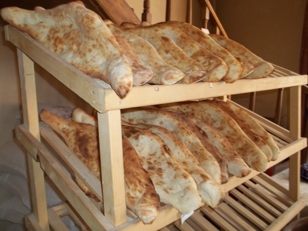 Georgian Bread Making - Fresh Bread