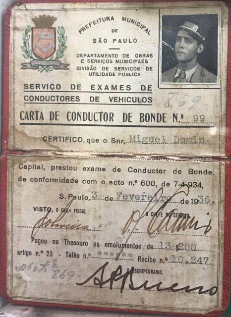 1936 Sao Paulo Miguel Domingos, motorneiro, 1936