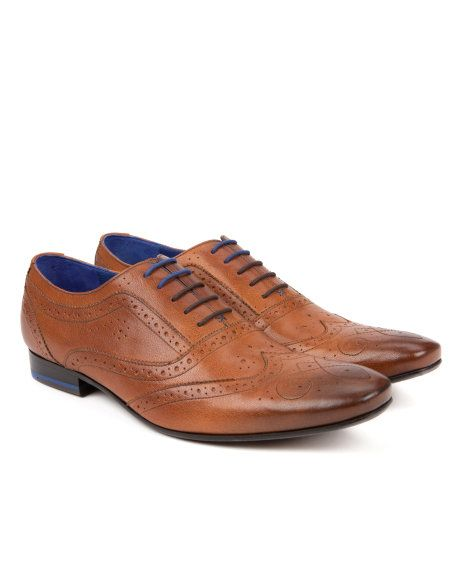 Smart lace up brogue - Tan | Shoes | Ted Baker