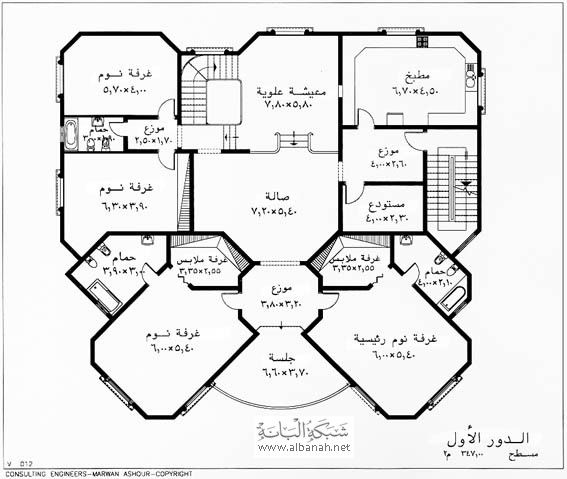 تصاميم فلل مع شقق House Floor Design Floor Plan Design Country Style House Plans