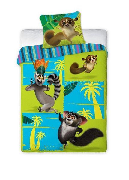a3c99d652 Zeleno modré posteľné obliečky s rozprávkovým motívom Madagascar ...