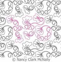 Digital Quilting Design Nancy's Blossoms Panto by Nancy Clark McNally.