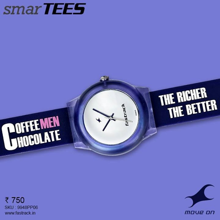Say it straight. #SmarTEES http://fastrack.in/product/9948pp06   #Fastrack #Lines #Tees #Blue #Watch