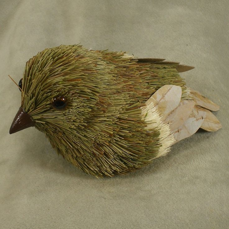 1 Pc, Sisal Artificial Bird 5 Inches Long By 3 Inches Tall By 2.25 Inches Wide