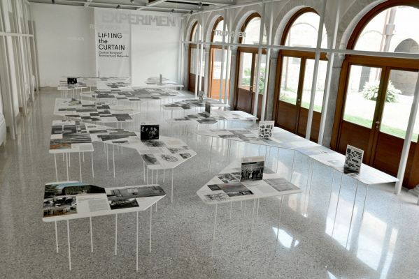Lifting The Curtain. Central European Architectural Networks - exhibition design, research contribution