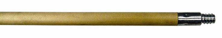"Wooden Broom Handles - 60"" wood handle with threaded wood tip"