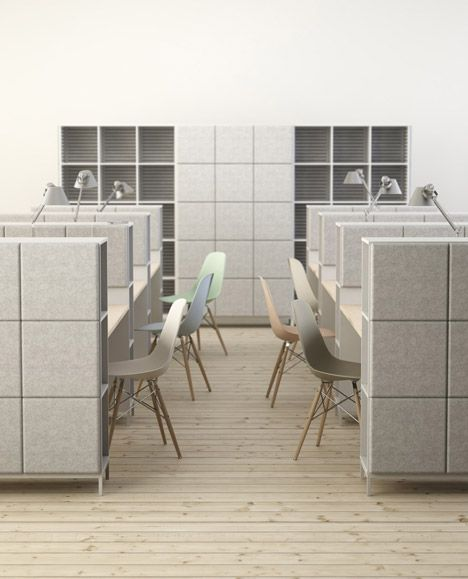 Johan Kauppi And Bertil Harström Launch Sound-absorbing Workplace Furnishings For Glimakra - http://www.decorazilla.com/architecture/johan-kauppi-and-bertil-harstrom-launch-sound-absorbing-workplace-furnishings-for-glimakra.html