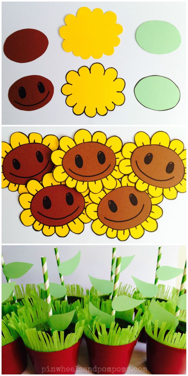 Make sunflower decorations for PVZ party