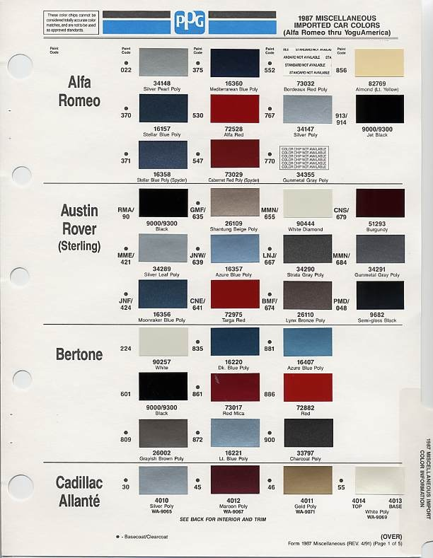 108 Best Auto Paint Colors Codes Images On Pinterest Chevy
