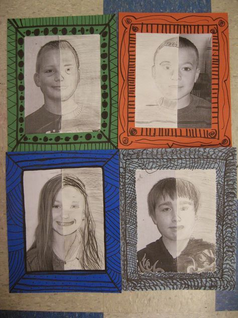 4th grade: Students can recognize the art of Mary Cassatt Students can draw half of a face using correct proportions Students can create a value scale with pencil Students can use shading techniques to create value Students can create a uniquely patterned frame