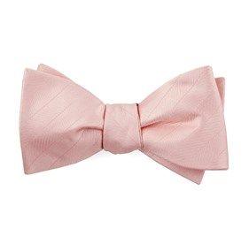 Herringbone Vow Blush Pink Bow Ties