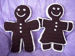 Ravelry: Gingerbread Boy and Girl Dolls pattern by Kelli Willis
