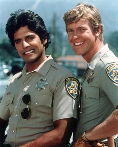 """CHIPs  Ponch and John... whenever I see 2 motorcycle cops together I think """"It's Ponch & John!"""""""
