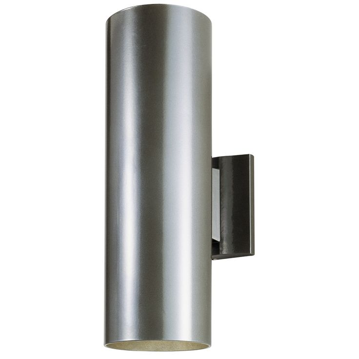 This Westinghouse Lighting Two-Light Exterior Wall Lantern offers a striking modern look. Made of aluminum, this lantern features a bronze finish on a cylindrical design. It also features a clean rect