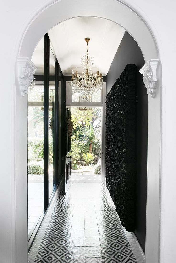 Hallway from glamorous 1885 Victorian house in Hunters Hill, Sydney. Photography: Ross Coffey | Styling: Lucy Mccabe