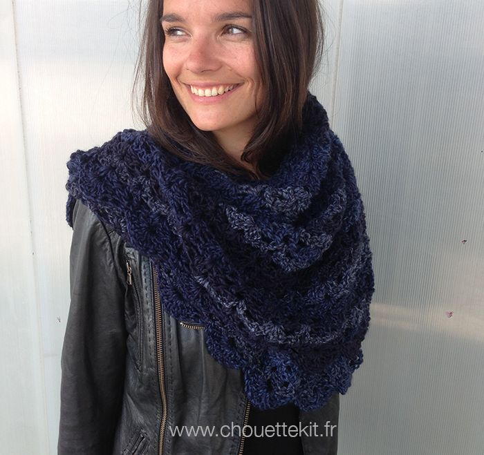 grande pointe au crochet - chouette Kit d'automne - www.chouettekit.fr